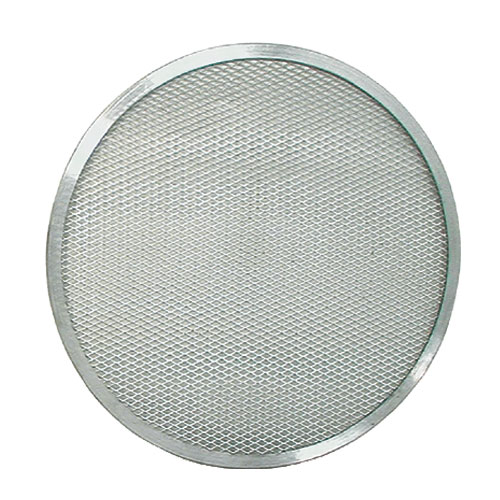 "Update International PS-17 17"" Pizza Screen - Seamless Rim, Aluminum"