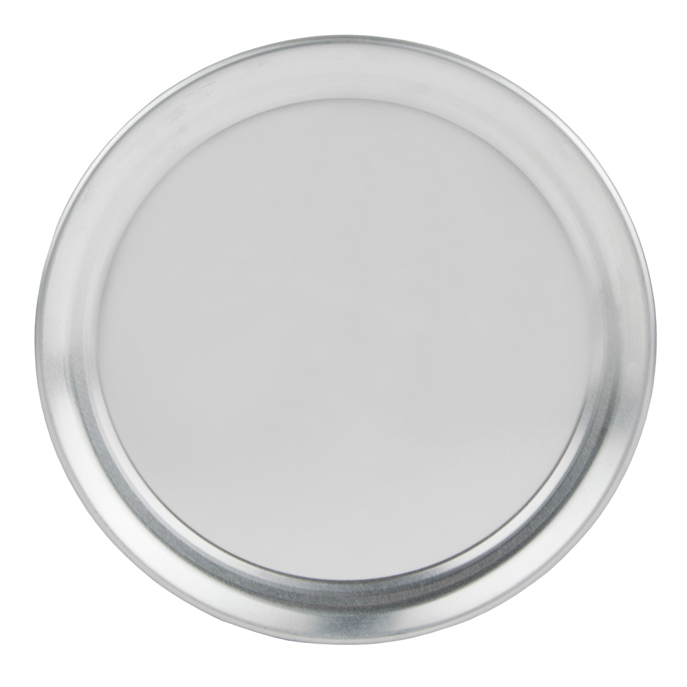 "Update International PT-WR12 12"" Wide Rim Pizza Tray - Aluminum"