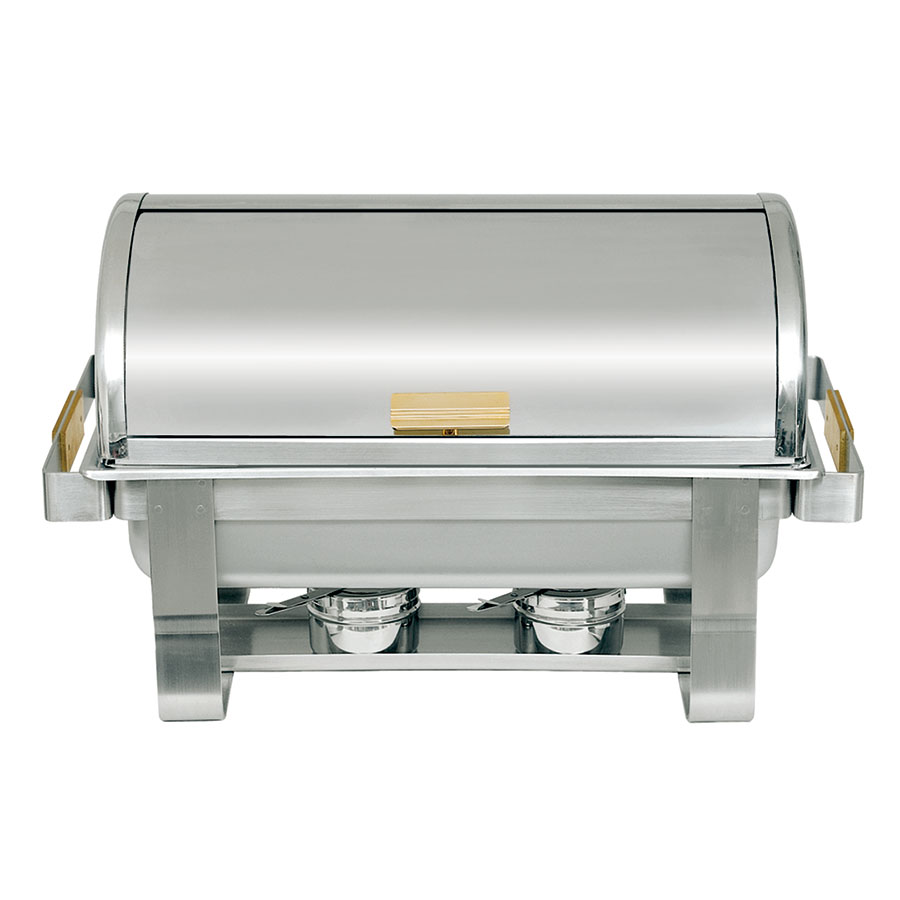 Update International RTC-8 8-qt Heavy Duty Chafer - Roll-Top, Brass Handles, Stainless