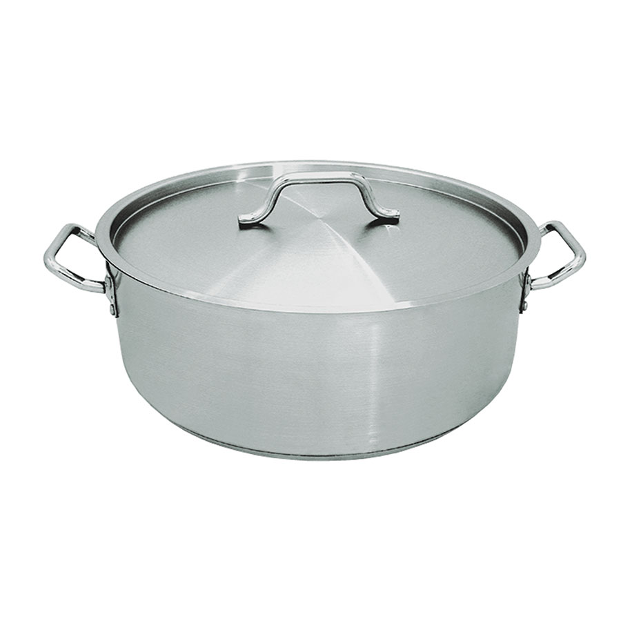 Update International SBR-15 15-qt Induction Brazier with Cover - Heavy-Duty Stainless