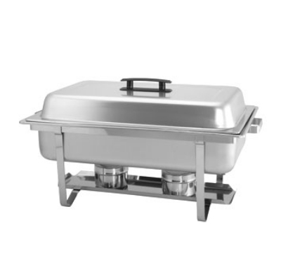 Update International SCC-16P Full-Size Rectangular Chafer - Stackable, Mirror-Finish