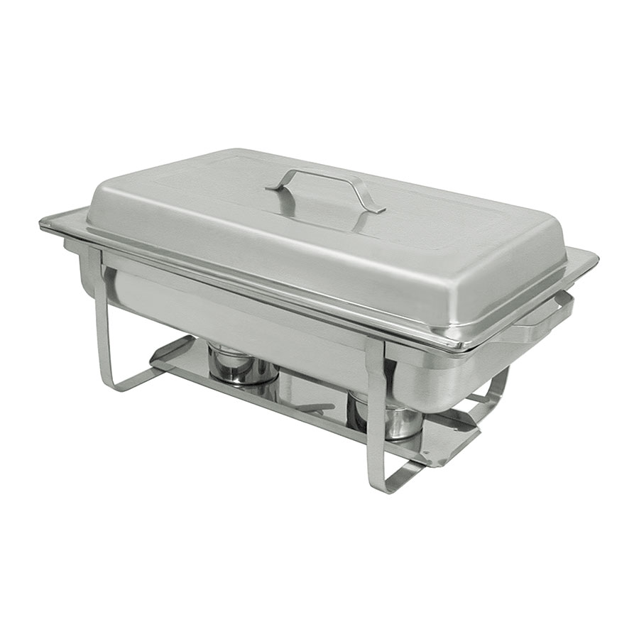 Update International SCC-19 Full-Size Rectangular Chafer - Stackable, Satin-Finish