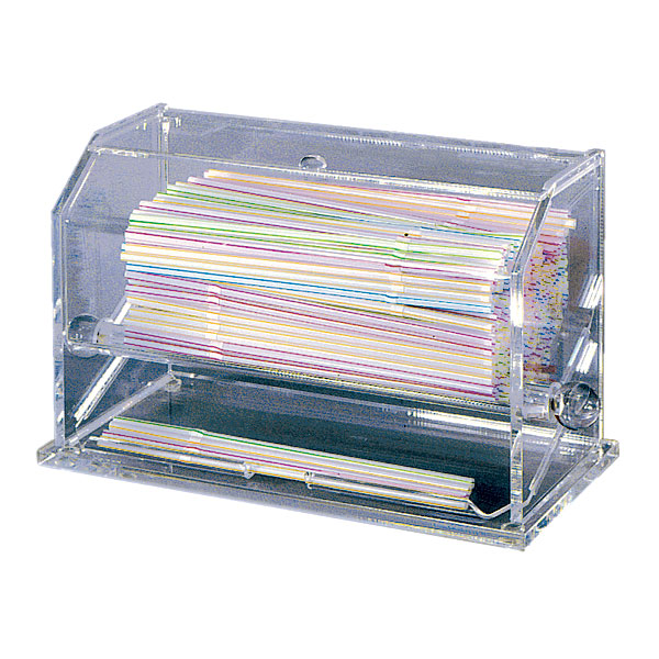 "Update International SD-AC Straw Dispenser - 11x5-1/2x6-3/4"" Clear Acrylic"