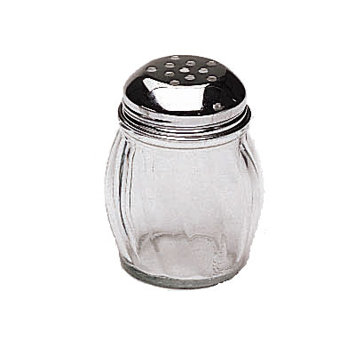 Update International SK-RPF 6-oz Swirl Shaker - Perforated Top, Glass/Chrome