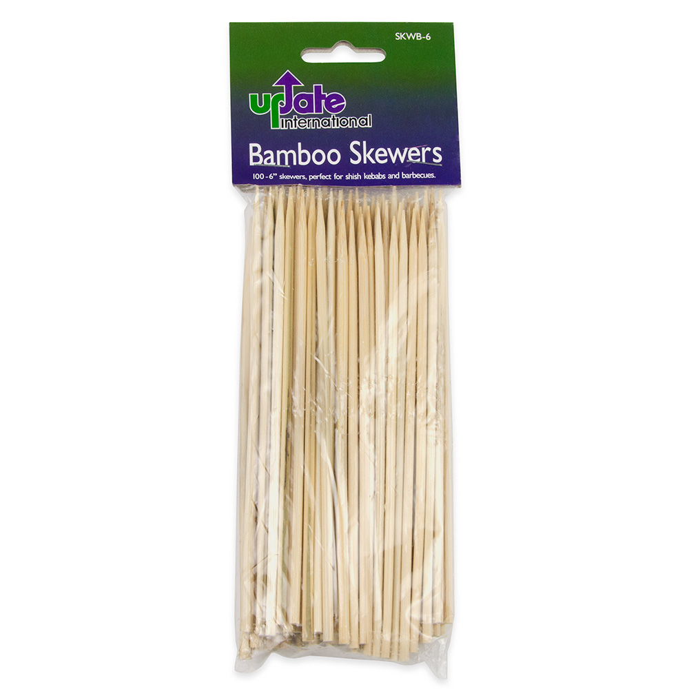 "Update International SKWB-6 6"" Bamboo Skewers"