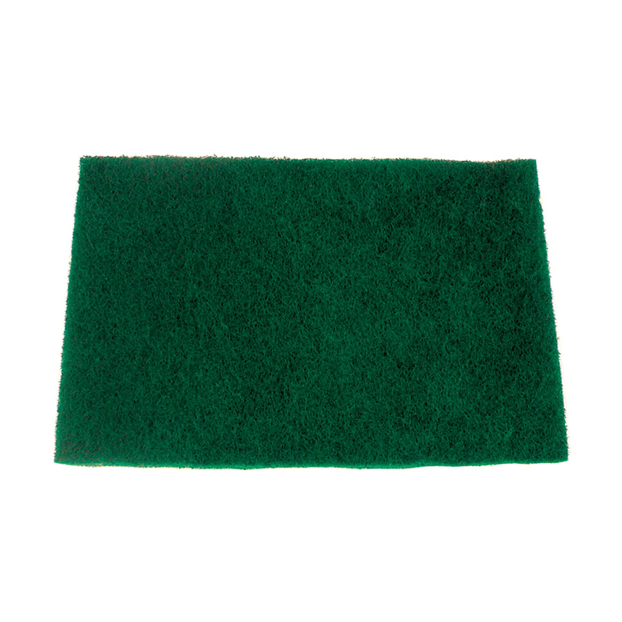 "Update International SP-69HD Heavy-Duty Scouring Pad - 6 x 9"" Green"