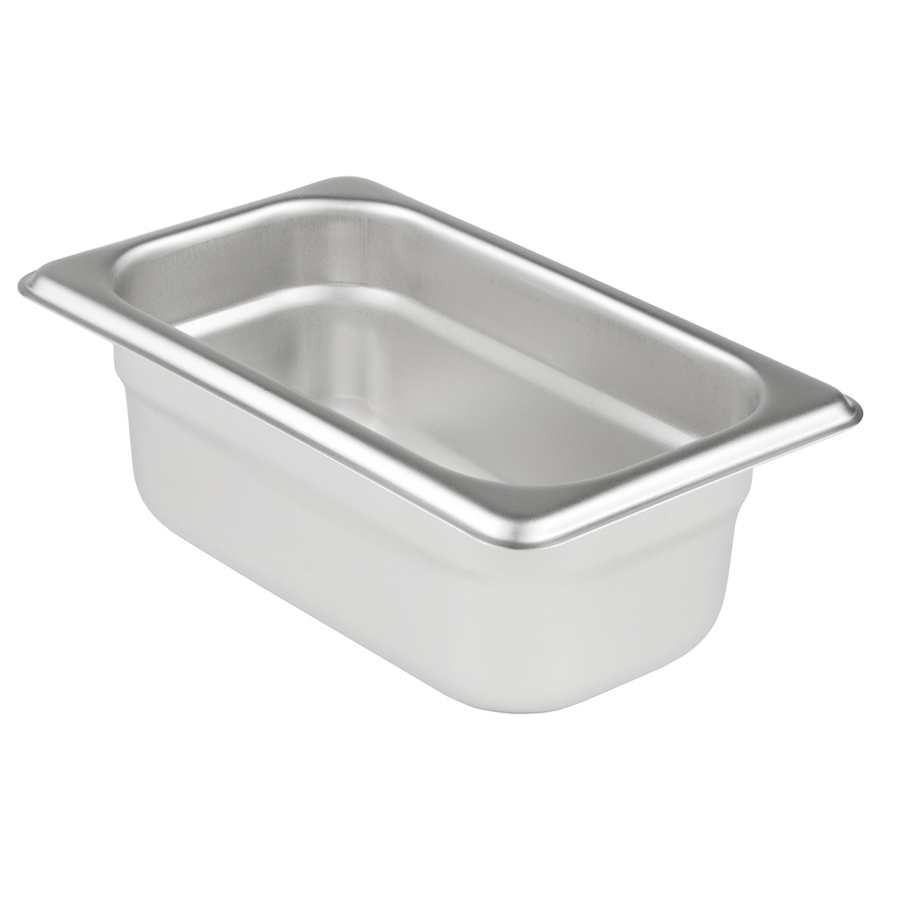 "Update International SPH-114 1/9 Size Steam Table Pan - 4"" D, Anti-Jamming, 23-ga Stainless"