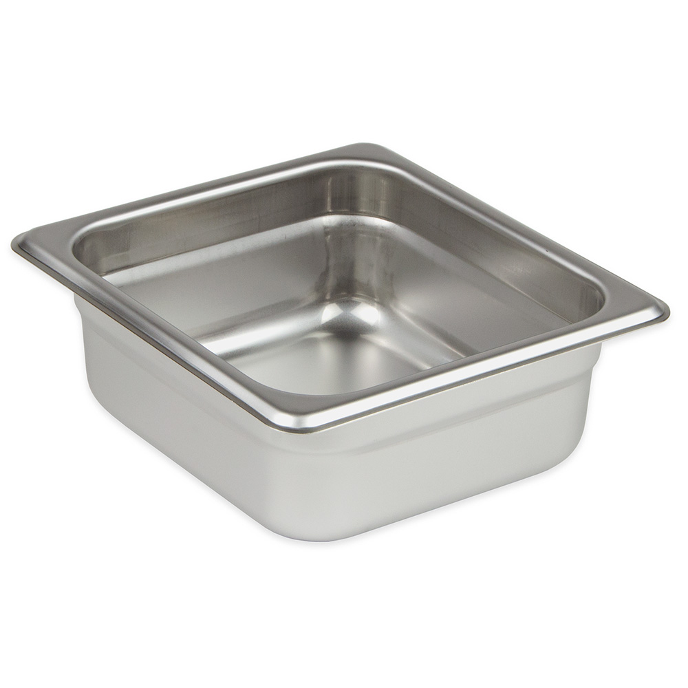 "Update International SPH-164 1/6 Size Steam Table Pan - 4"" D, Anti-Jamming, 23-ga Stainless"