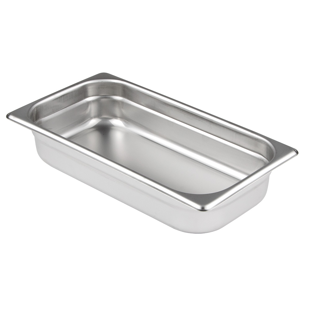 "Update International SPH-332 1/3 Size Steam Table Pan - 2-1/2"" D, Anti-Jamming, Stainless"