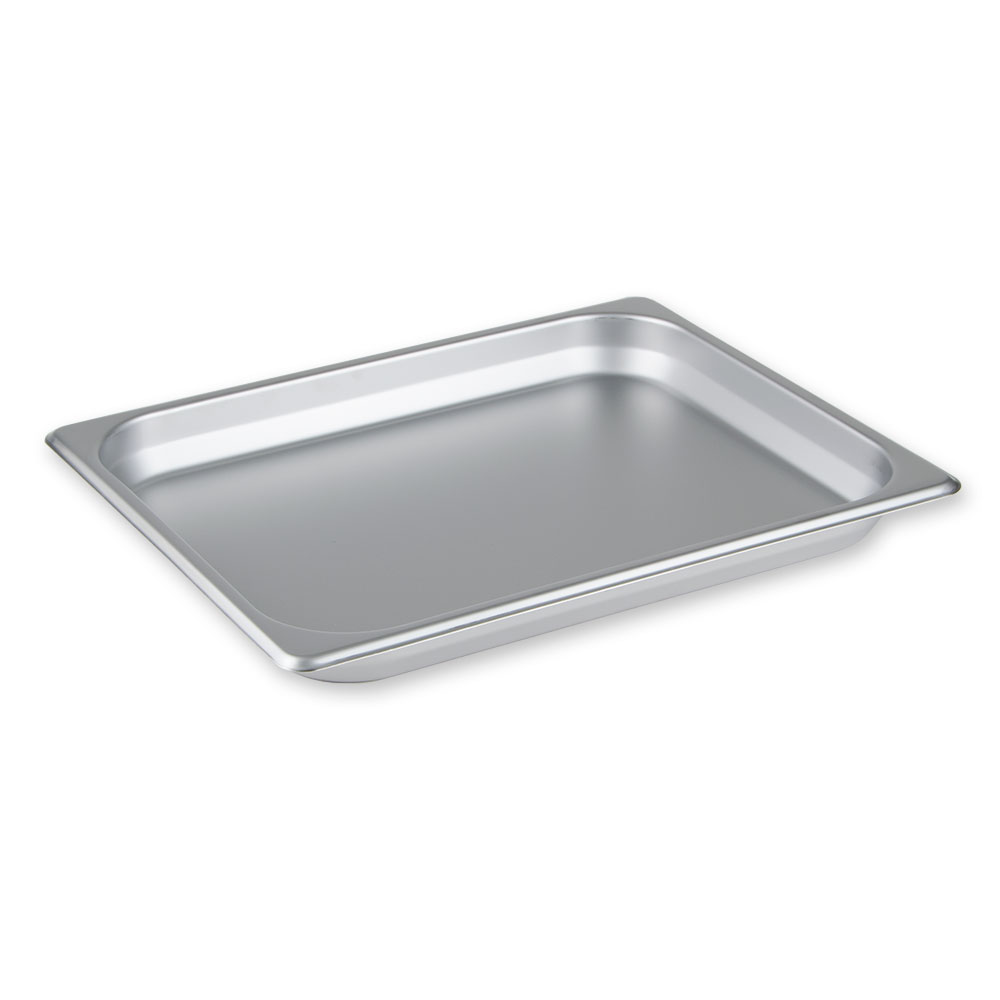 "Update International SPH-504 Half-Size Steam Table Pan - 4"" D, Anti-Jamming, Stainless"