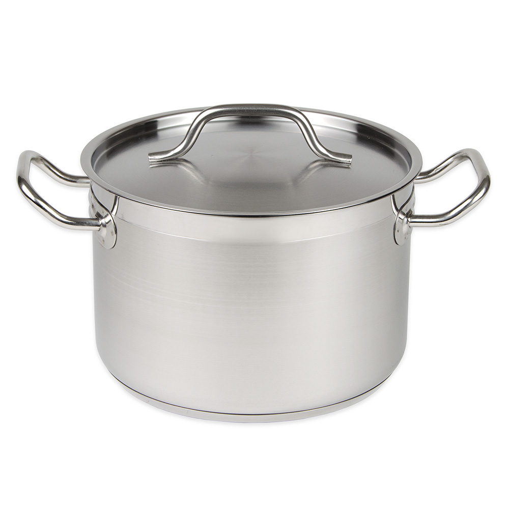 Update International SPS-16 16-qt Induction Stock Pot with Cover - Aluminum/Stainless