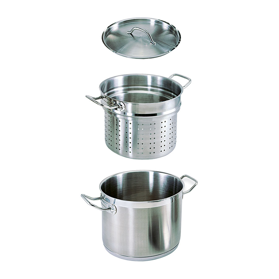 Update International SPSA-20 20-qt SuperSteel Induction Pasta Cooker Set - Stainless