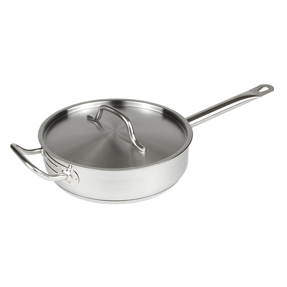 Update International SSAU-3 3-qt SuperSteel Induction Saute Pan with Cover - Stainless