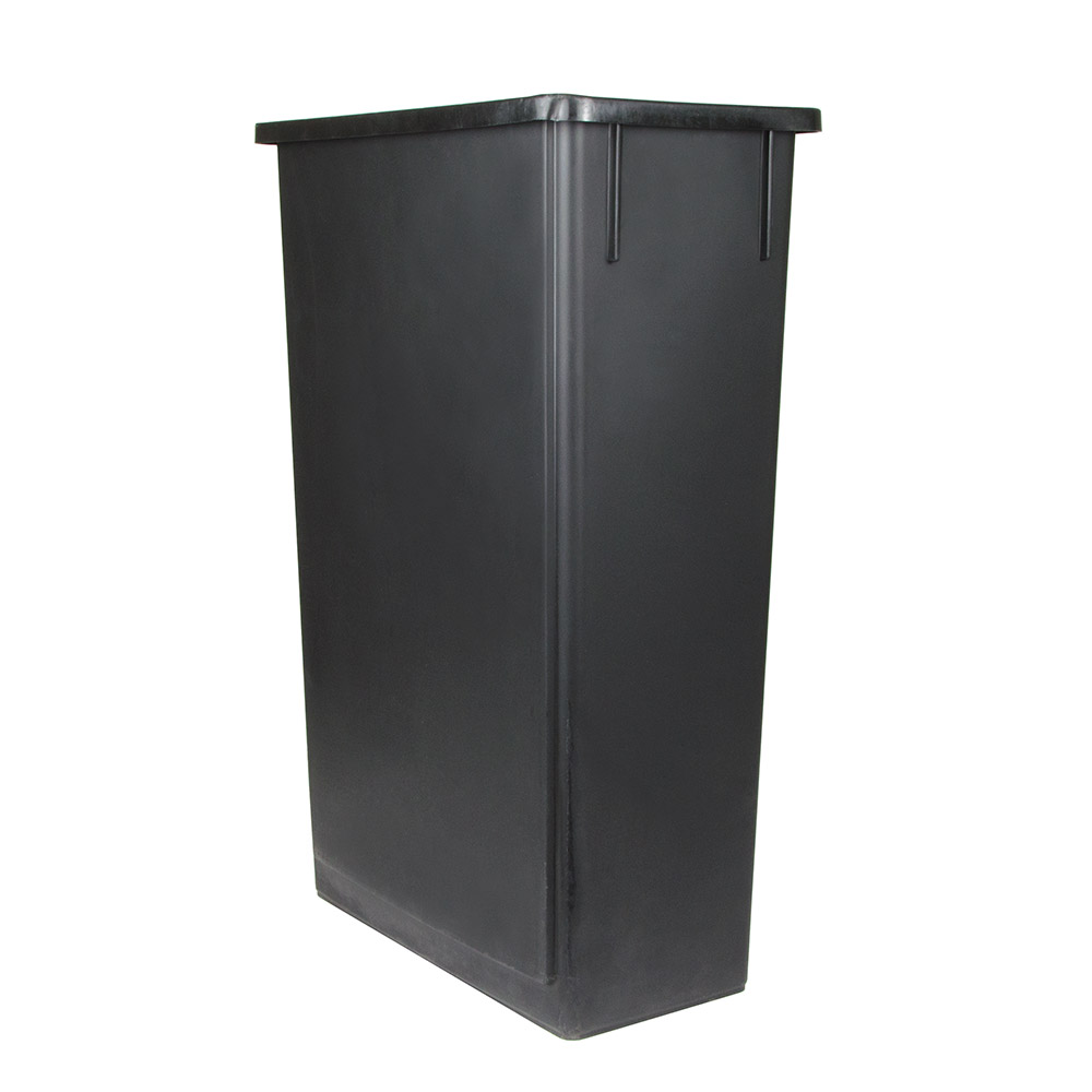 Update International SSC-23BK 23-gal Space Saver Trash Can - Black