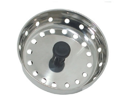 "Update International SSTR-30 3"" Bar Sink Strainer - Stainless"