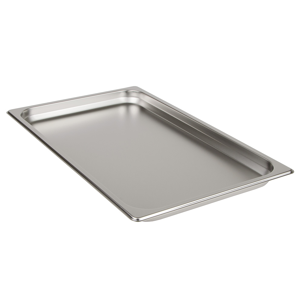 "Update International STP-1001 Full-Size Steam Table Pan - 1-1/4"" D, 25-ga Stainless"