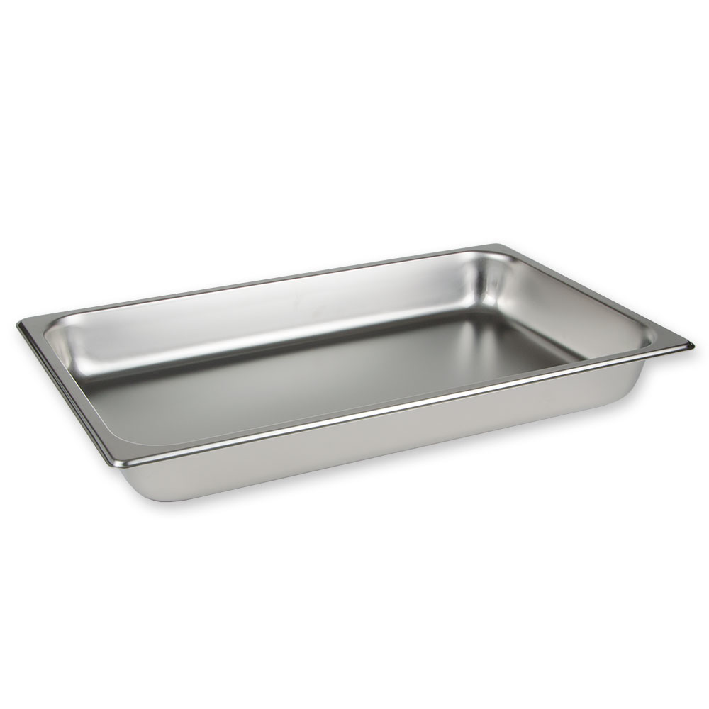 "Update International STP-1004 Full-Size Steam Table Pan - 4"" D, 25-ga Stainless"