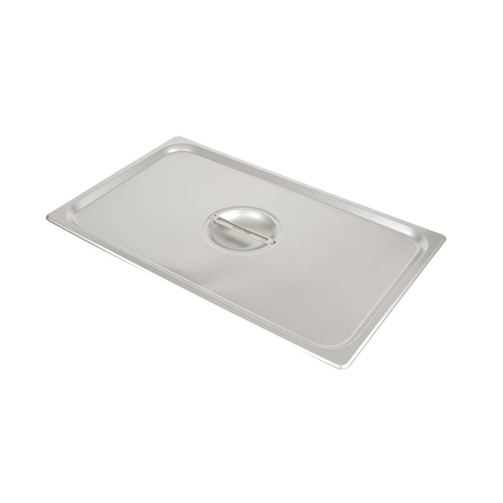Update International STP-100LDC Full-Size Solid Steam Table Pan Cover - Stainless