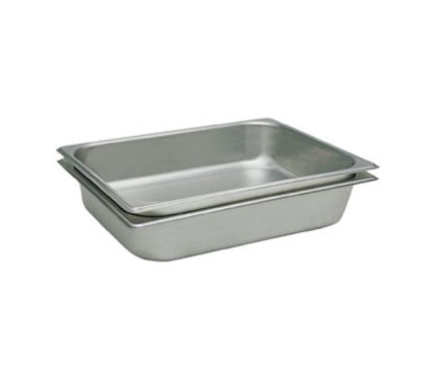 "Update International STP-502 Half-Size Steam Table Pan - 2-1/2"" D, 25-ga Stainless"
