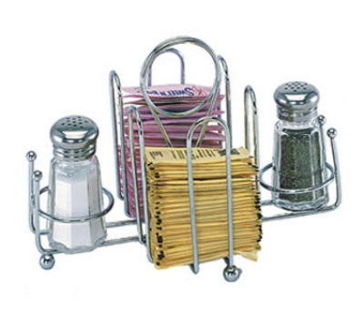 Update International SUSK-HDR Sugar Packet & Shaker Holder - Chrome