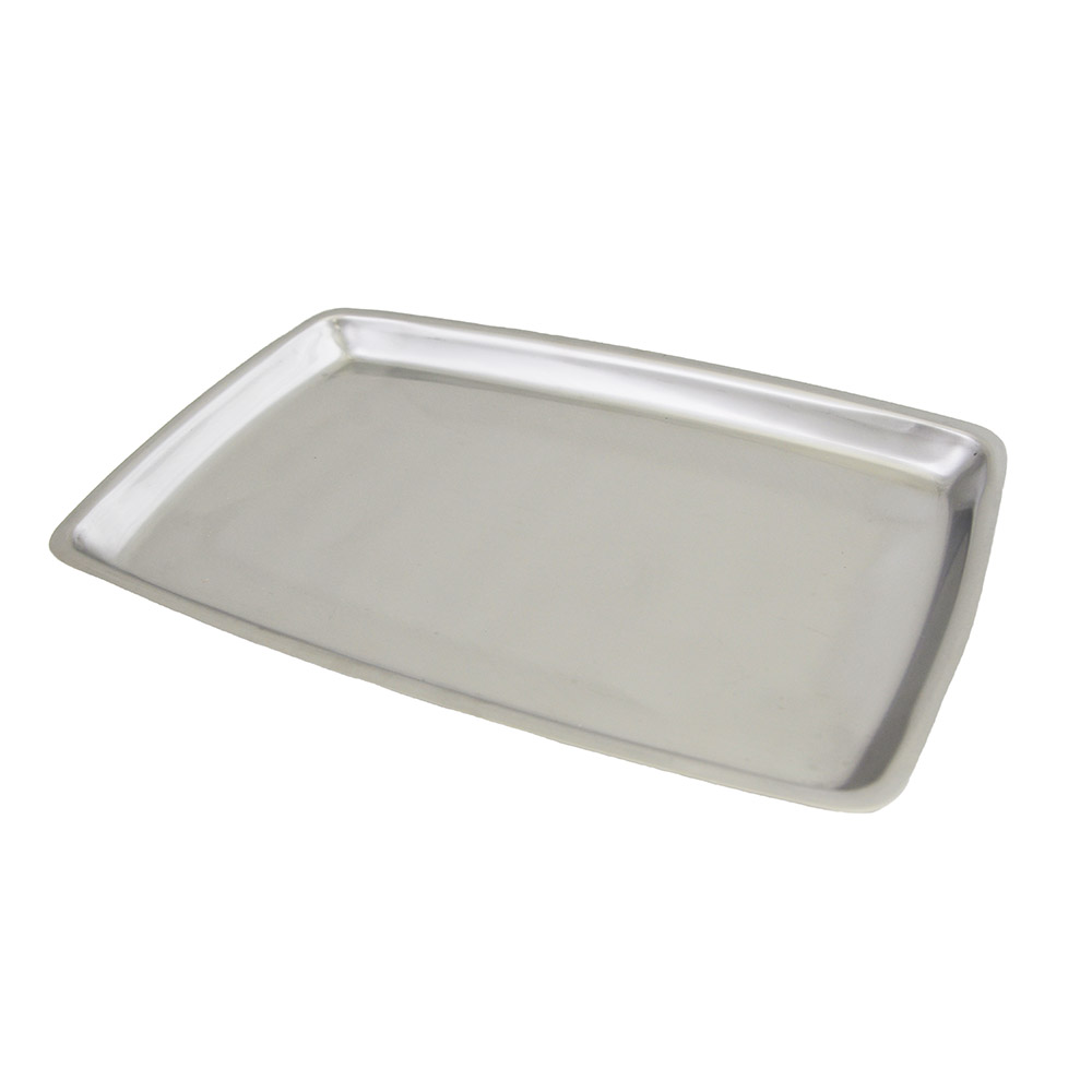 Update International SZP-138 Stainless Sizzle Platter - 11x7