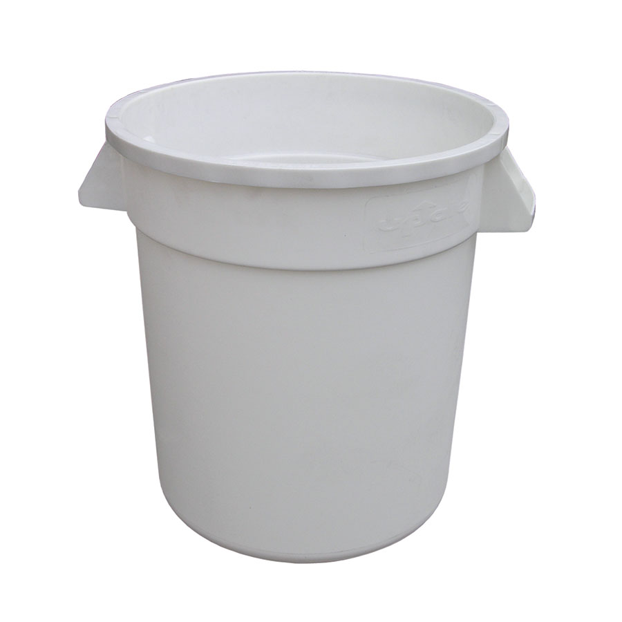 Update International TC-10W 10-gal Trash Can - Polypropylene, White