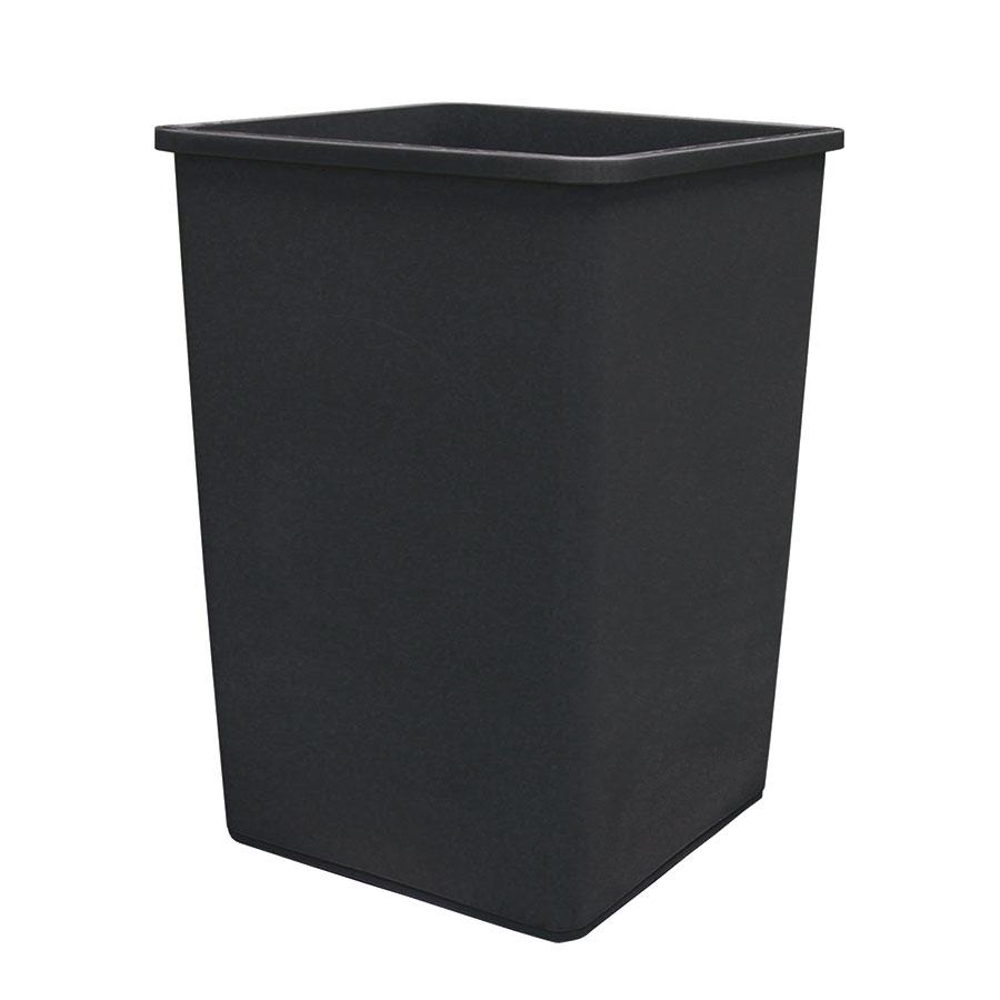 Update International TCSQ-35B 35-gal Trash Can - Blac