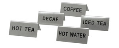 "Update International TS-HWT Hot Water"" Tent Sign"