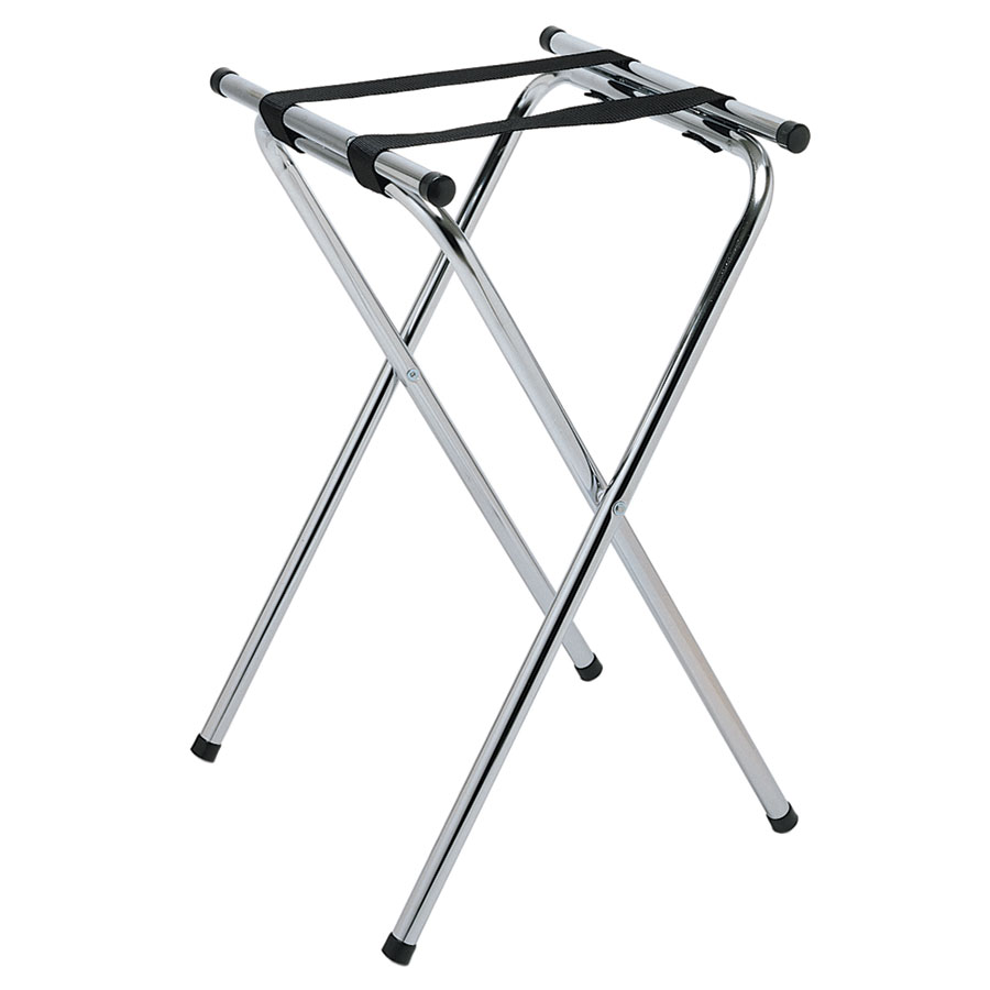 "Update International TSC-37 37"" Tray Stand - Chrome Plated"