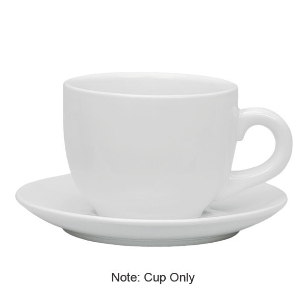 Update International TW-60SR 6-oz Tiara Cappuccino Cup Saucer - Ceramic, White