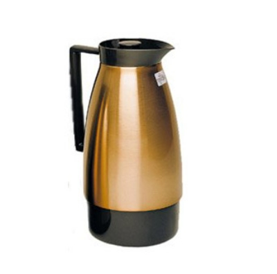 Update International UD1000PT 2-Liter Insulated Vacuum Server w/ Black Auto Pour Top, Copper