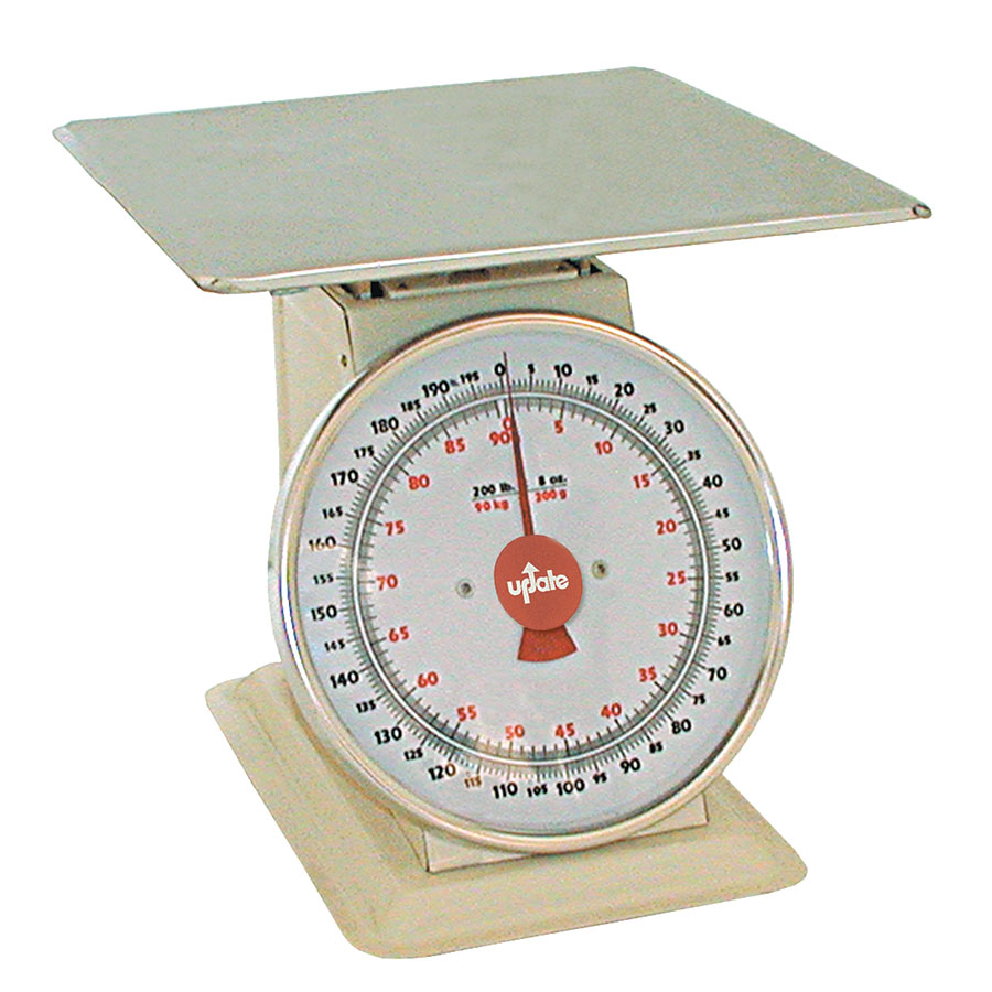 "Update International UP-11200 11"" Fixed Dial Scale - 200-lb Capacity, 8-oz Graduations"