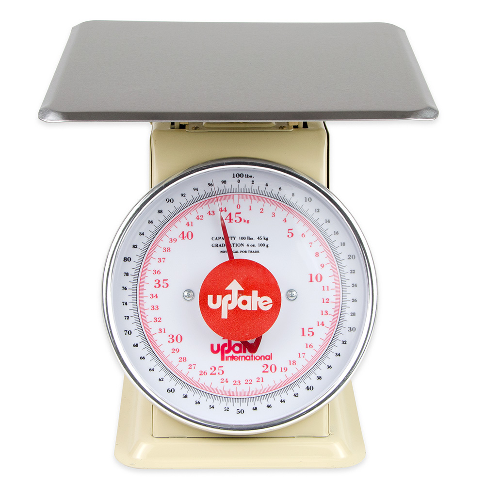 "Update International UP-9100 9"" Fixed Dial Scale - 100-lb Capacity, 4-oz Graduations"