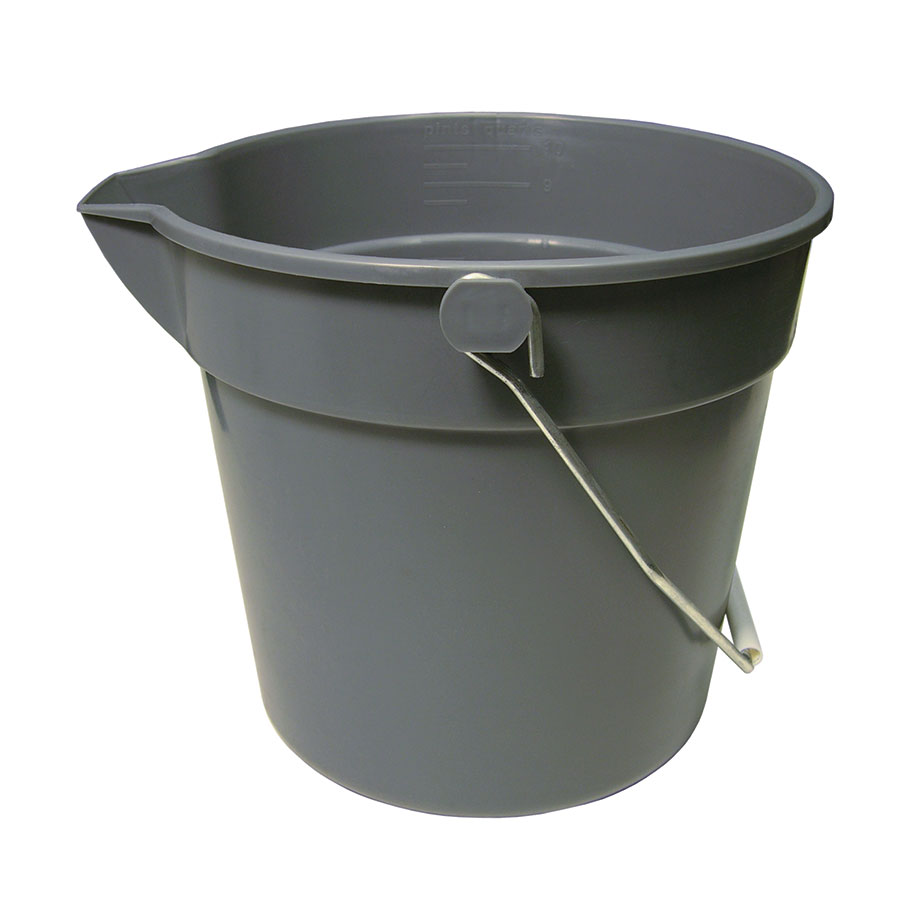 Update International UPP-10 10-qt Utility Pail - Plastic, Gr