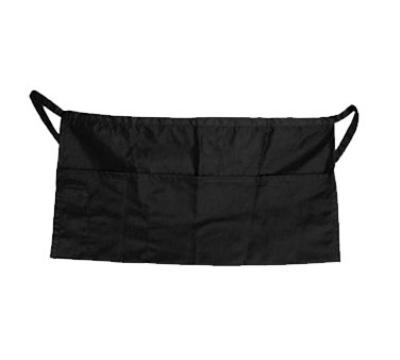 "Update International WAP-BK 4-Pocket Waist Apron - 23x12"" Poly/Cotton, Black"