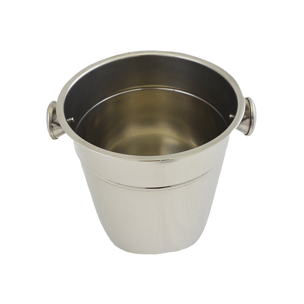 "Update International WB-80 8-7/8"" Wine Bucket - Stainless"