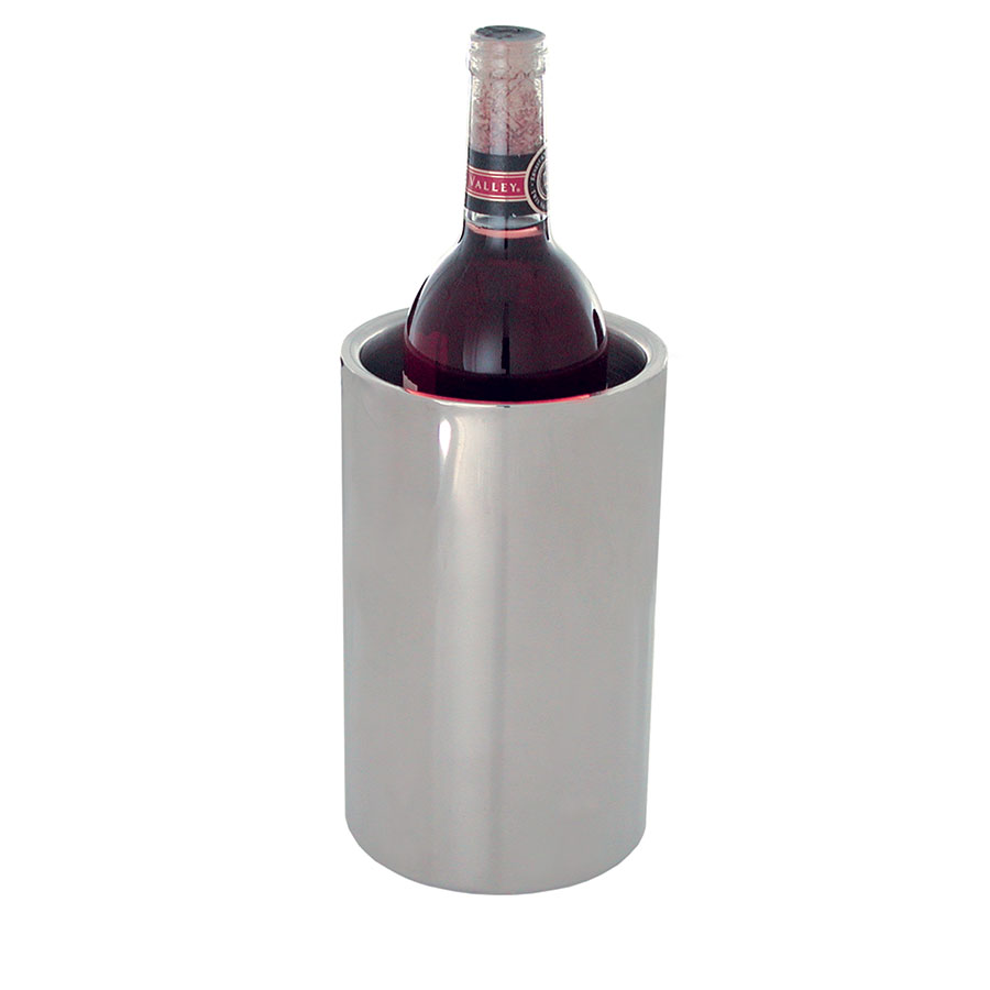 "Update International WC-SS 4-1/4"" Double-Walled Wine Cooler - Stainless"