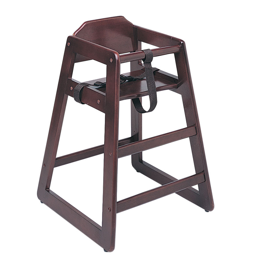 Update International WD-HCM Mahogany Finish Heavy Duty High Chair, Unassembled