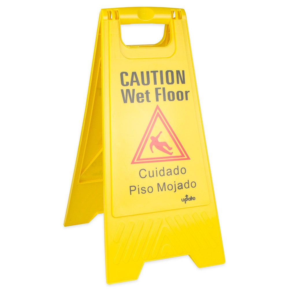 "Update International WFS-25 Wet Floor Sign - 24x12"" Yellow"