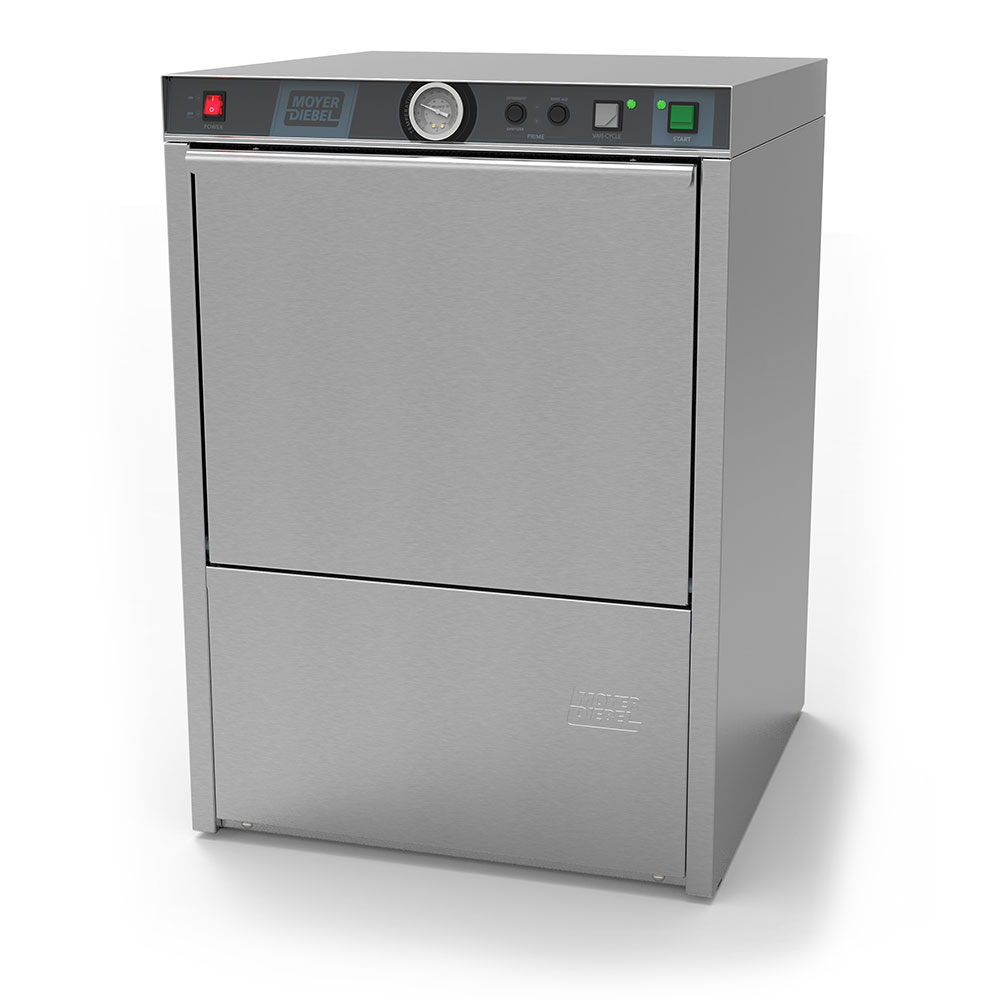 Moyer Diebel 201LT Dishwasher, Low Temp, w/ 70-F Rise Built-In Booster Heater, 21-Racks in 1-hr