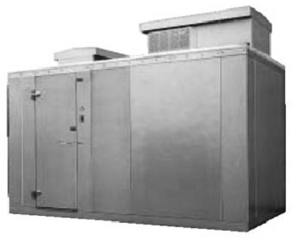 Norlake KODB7766-C L Outdoor Cooler, +35F, 6' x 6' x 7' 7 in H, Left Hinge