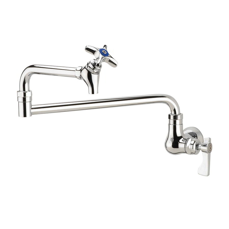Krowne 16-179L Royal Series Wall Mount Pot Filler Faucet w/ 12-in Spout, Low Lead