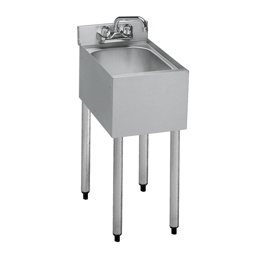 """Krowne 18-1C Under Bar Sink - 10x14x7"""" Bowl, Splash Mount, Corner Drain, 12x18-1/2"""""""