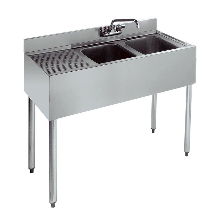 "Krowne 18-32R Under Bar Sink - 10x14x9.75"" Bowl, Faucet, Right Drainboard, 36x18.5"