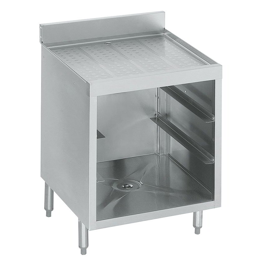 "Krowne 18-GSB1 Under Bar Glass Storage Cabinet - 3-Racks, 4"" Back Splash, 24x23.5"