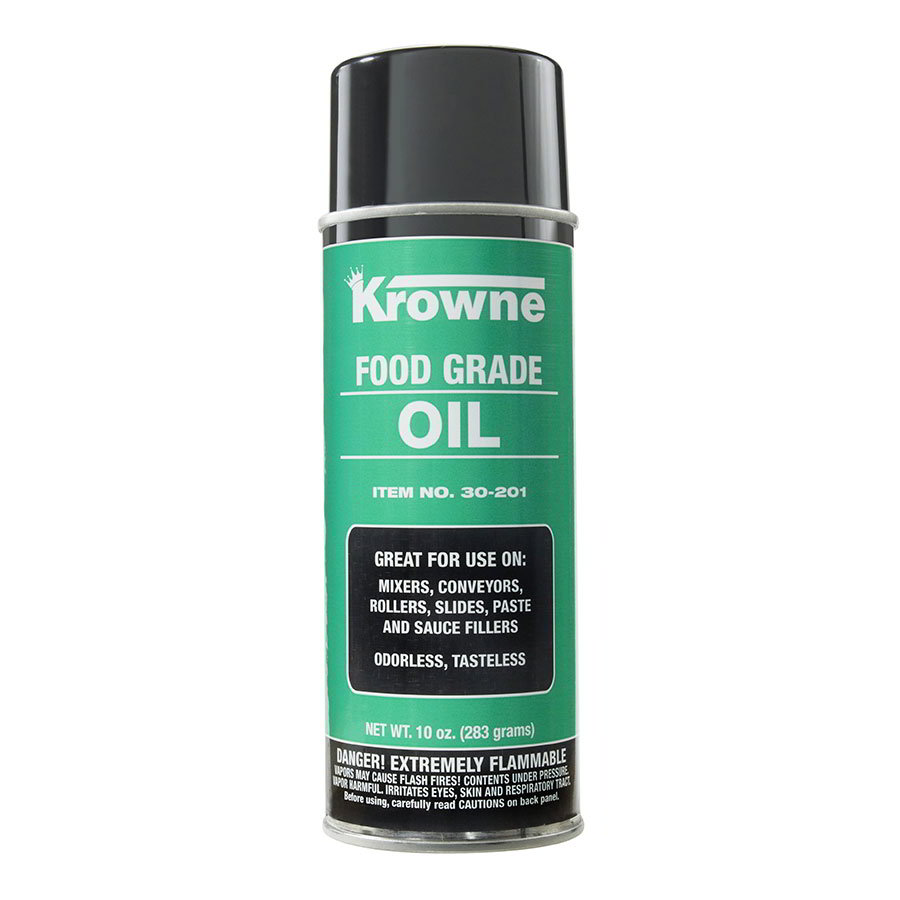 Krowne 30-201 Food Grade Oil for Mixers, Conveyors, Rollers & Slides, Non-Silicone