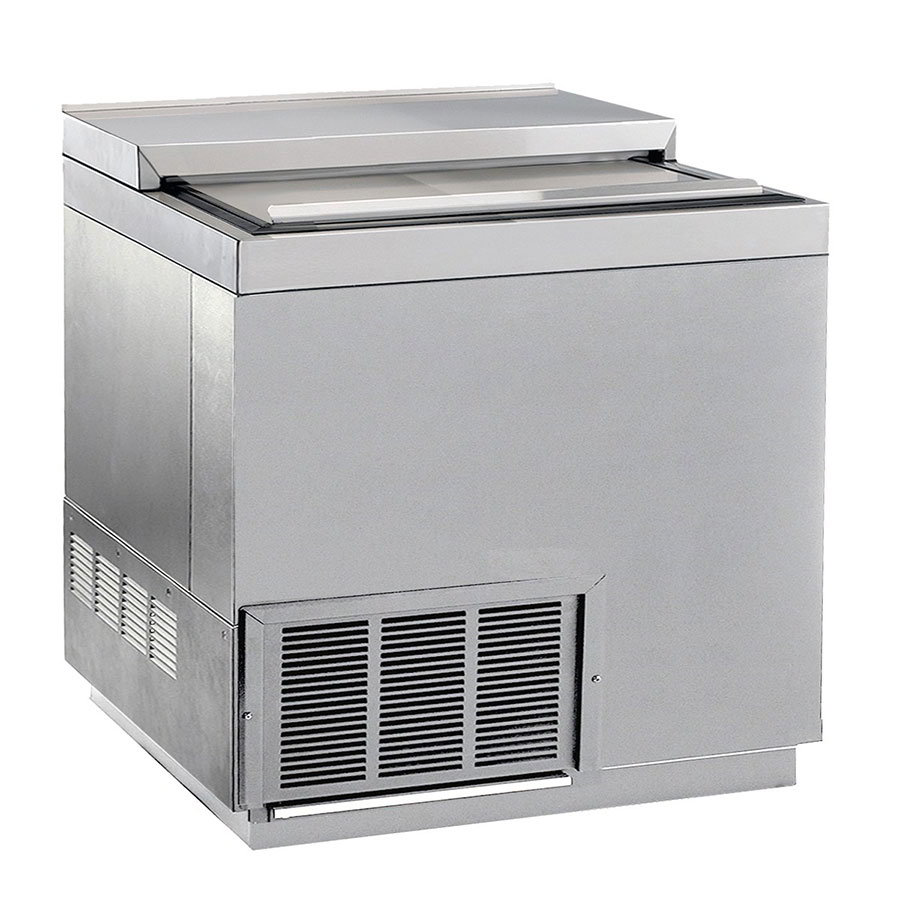 """Krowne BC36-SS 36"""" Forced Air 192-Capacity Bottle Cooler - Stainless Interior, 115v"""