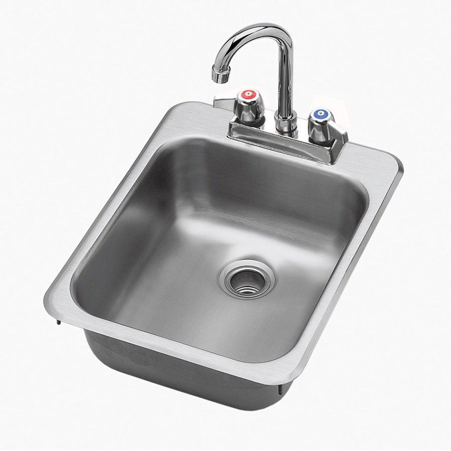 "Krowne HS-1317 Hand Sink - 10x12x5.5"" Bowl, Deck Mount, 13x17"", Stainless"