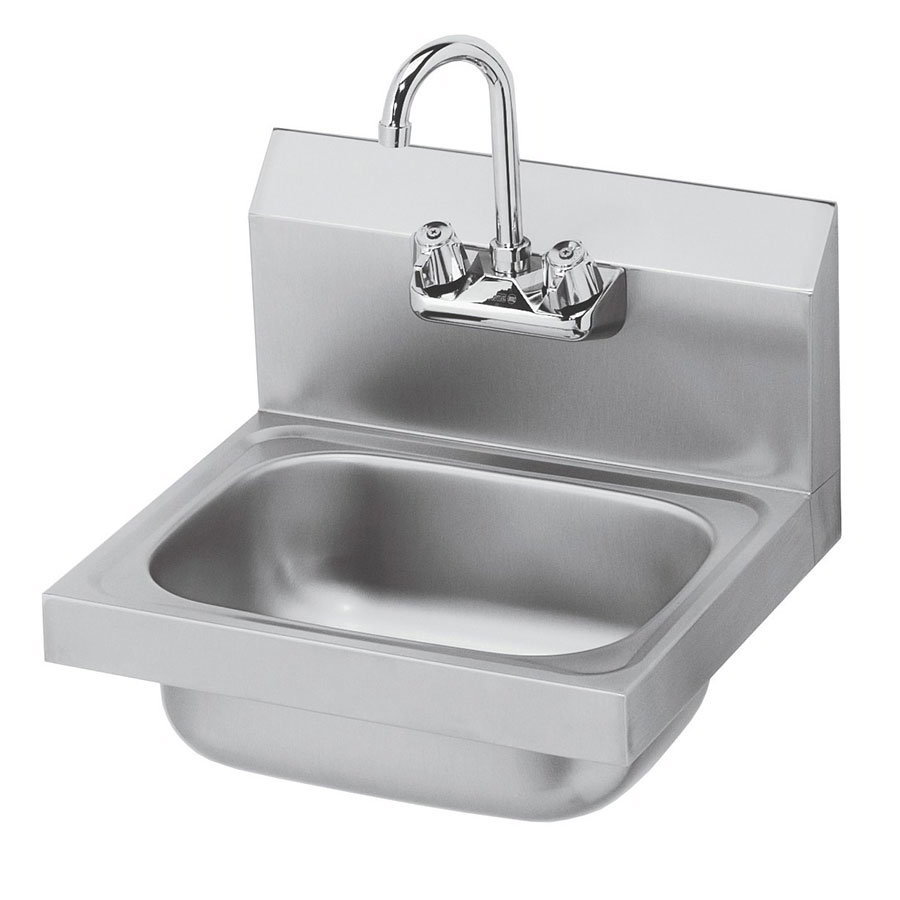 "Krowne HS-2L Wall Mount Hand Sink - 10x14x6"" Bowl, Splash Mount, Side"
