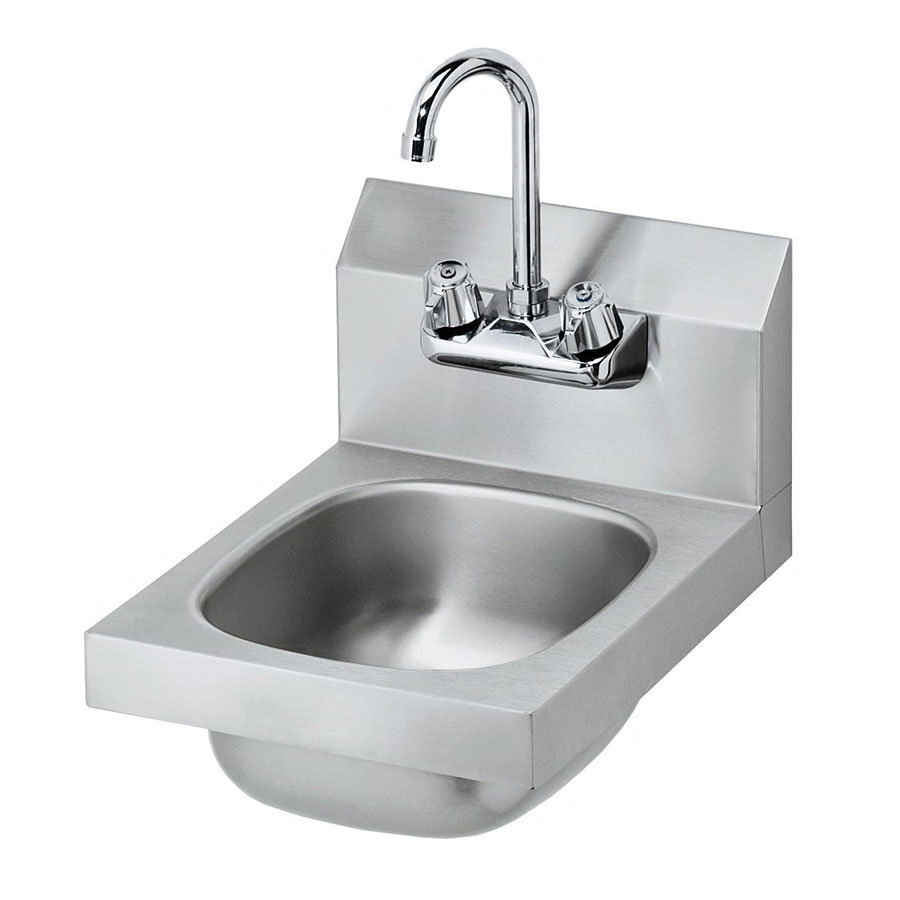 "Krowne HS-9L Wall Mount Hand Sink - 10x14x6"", Splash Mount, 12x17"